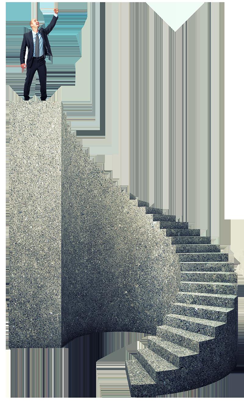 man-brick-stairs-authority